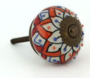 Orange & Blue Embossed Tribal Knob, £2.95 from Mac  Me