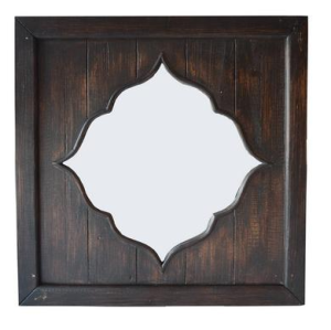 dunelhm mill - dark wood morrocan mirror