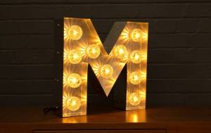 Light Up Letter - Single Letter, £225 from Goodwin + Goodwin