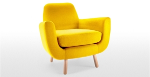 Jonah armchair in yellow by Made.com