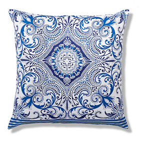 mands Large Morrocan Tile Print Cushion