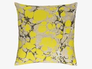 Marble Yellow Cushion Habitat