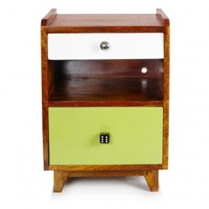 Ned Wood bedside cabinet Oliver Bonas