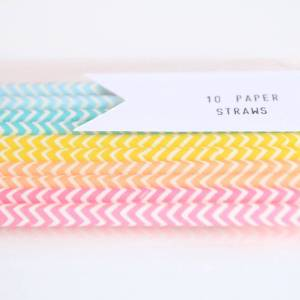 Chevron Paper Straws from Notonthehighstreet.com
