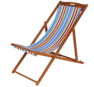 Striped Deck Chair from Argos