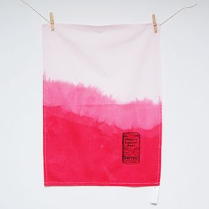Dip Dye Coffee Tea Towel, £10 Sapphire Strange Not on the high street