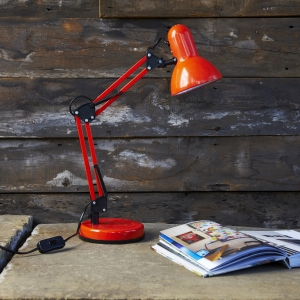 Orange Anglepoise Lamp, £29.95 from Rigby Mac