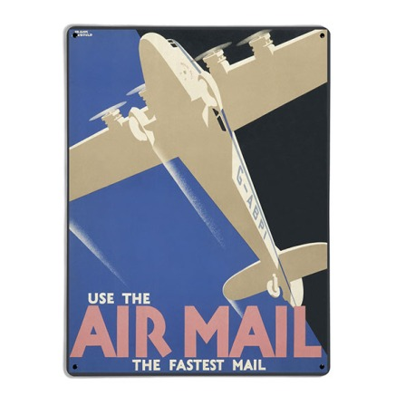 1933 Air Mail Poster, £85 from The Metal Art Company