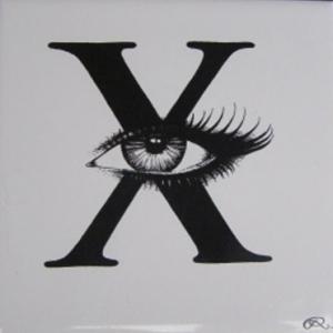 'X' Rory Dobner Ceramic Tile, £37.50 from Graham Green