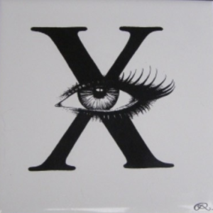 'X' Rory Dobner Ceramic Tile, £37.50 from Graham Green
