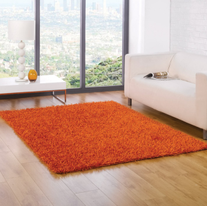Shaggy Spider Orange Rug, £33.97 from Chic at Home