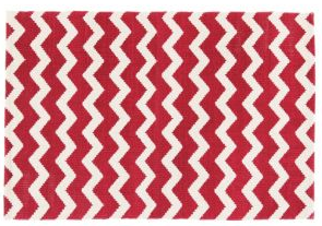 Chevron Red Rug from Tesco