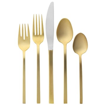 Gold 5-Pc. Cutlery Set, £24 from West Elm