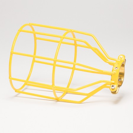 Industrial Style Lamp Cage in mustard yellow, £19.99 from Dowsing Reynolds