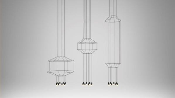 Wireflow pendant light fixtures by Arik Levy for Vibia