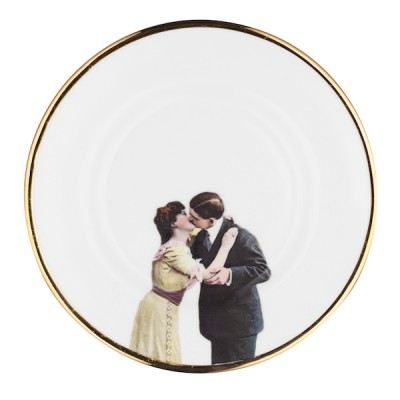 Kissing Couple Bone China Plate, £30 from Melody Rose