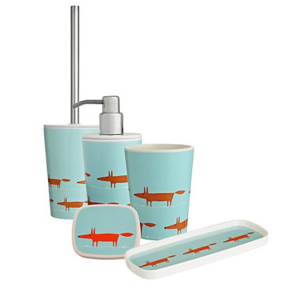 Mr Fox Bathroom Accessories by Scion: Soap Dish, Soap Dispenser, Toothbrush Holder, Tray and Toilet Brush, starts from £6 - Unique  Unity