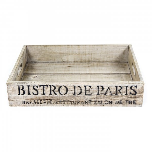 Bistrot de Paris Crate White, £19.95 from Boutique Camping UK