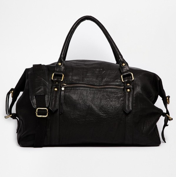 Black Leather Holdall, £70 from ASOS