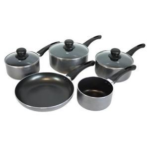 Cookshop Collection 5 Piece Aluminium Pan Set, £29.99 - Dunelm Mill