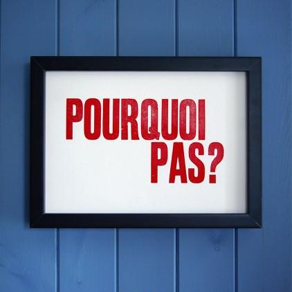 'Pourquoi Pas?' Print, £38.50 - Bouf