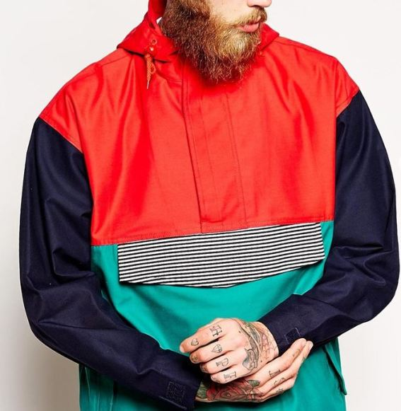 Reclaimed Vintage Mixed Colour Rain Jacket, £60 from ASOS