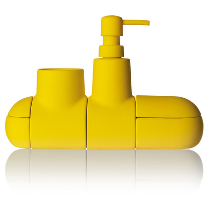 Submarine Bath Accessory by Seletti: Toothbrush Holder, Soap Dispenser plus 2 handy compartments, £50 from Amara.com
