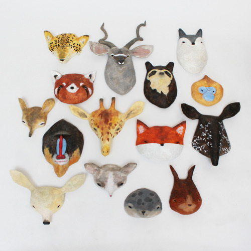 Creature masks, start from £75 by Abigail Brown