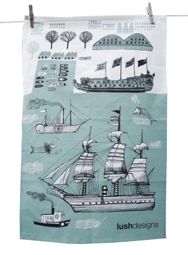 Big Ship Tea Towel, £11 from Lush Designs