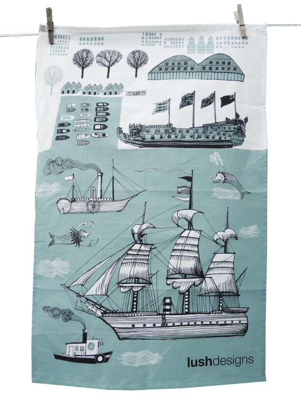 Big Ship Tea Towel, £11 from Lush Designs