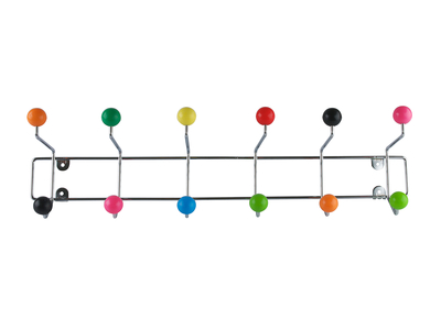 Multi coloured ball wall mounted hook, £17.95 - dwell