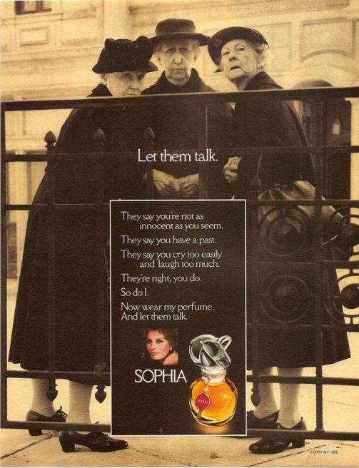 old ladies sophia by coty 1985 ad ebay