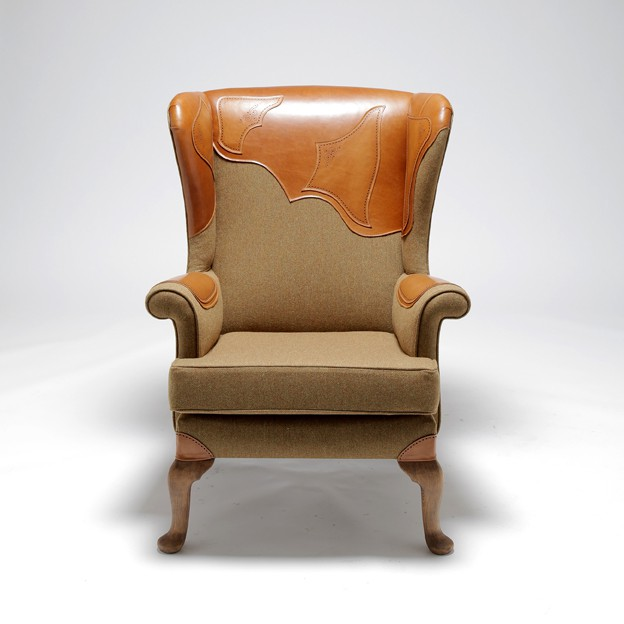 Brogue Wingback Chair by Alexena Cayless, £3,050 from We Are Elseware
