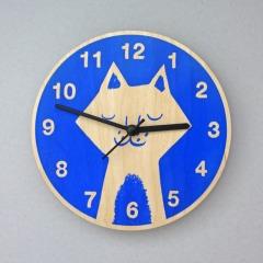 Blue Cat Clock, £25 - Theo Theo