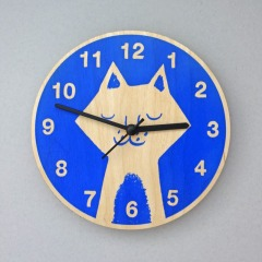 Blue Cat Clock, £25 - Theo Theo