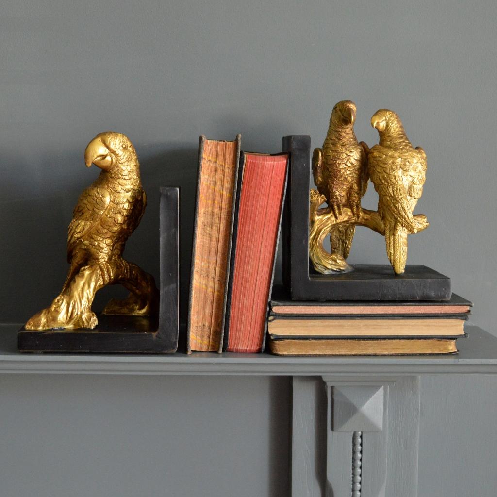 MiaFleur- Gold Parrot Bookends £42 pair (1)