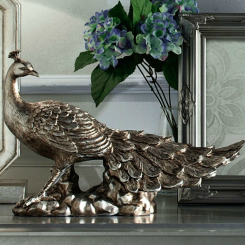Antique Silver Coloured Peacock Ornament, £40 - Kaleidoscope