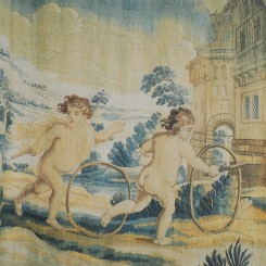 Putti with Hoops tapestry, £1,100 - Zardi and Zardi