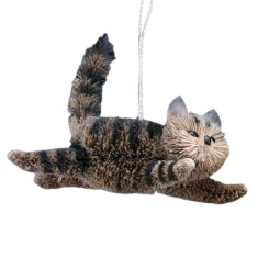 Bristle Tabby Cat Christmas Decoration £7.00 from Smug