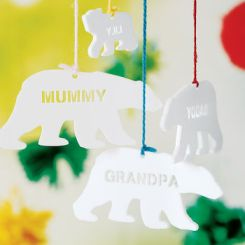 Personalised Polar Bear Christmas Decoration £2.45 Not on the High Street