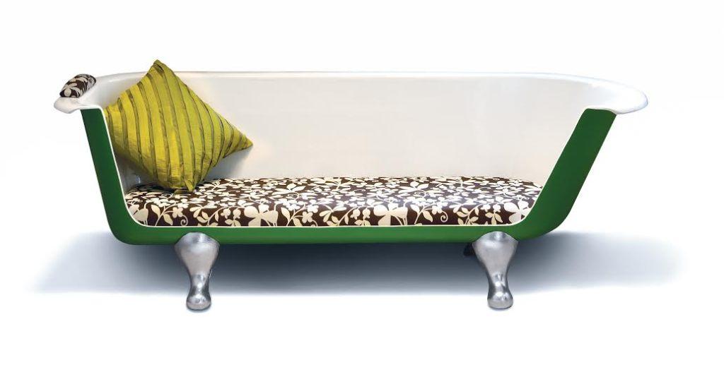 Upcycled bath rub sofa, £1,850