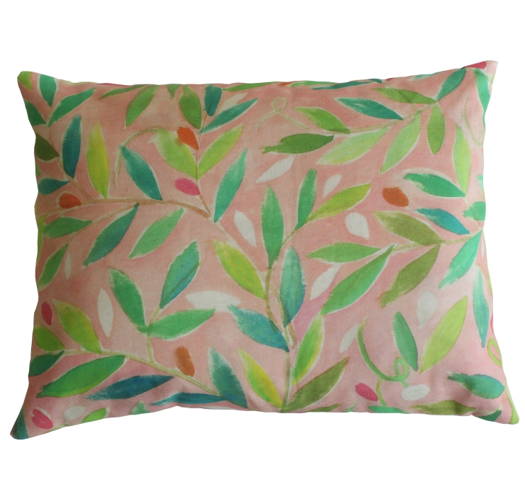 Sarah Campbell Designs - Pink Garden cushion, £40