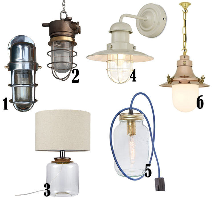 mablethorpe glass and rope table lamp 75 from john lewis 4 schubert wall light from mu0026s 5 kilner jar table light 60 from the tab