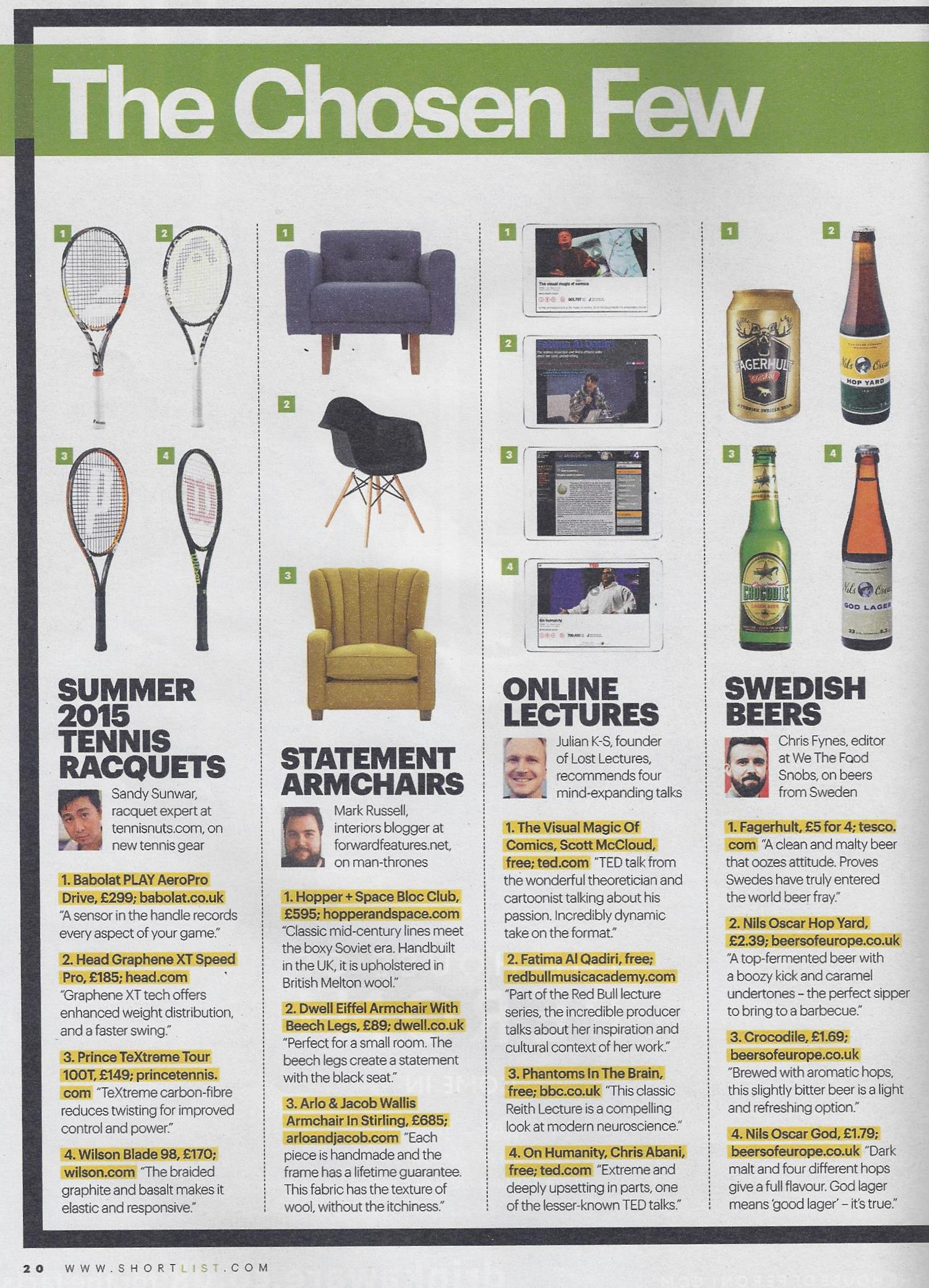 Our Chosen Few Man Thrones In Shortlist Magazine