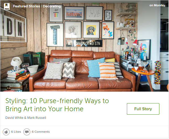 Houzz ideabook art