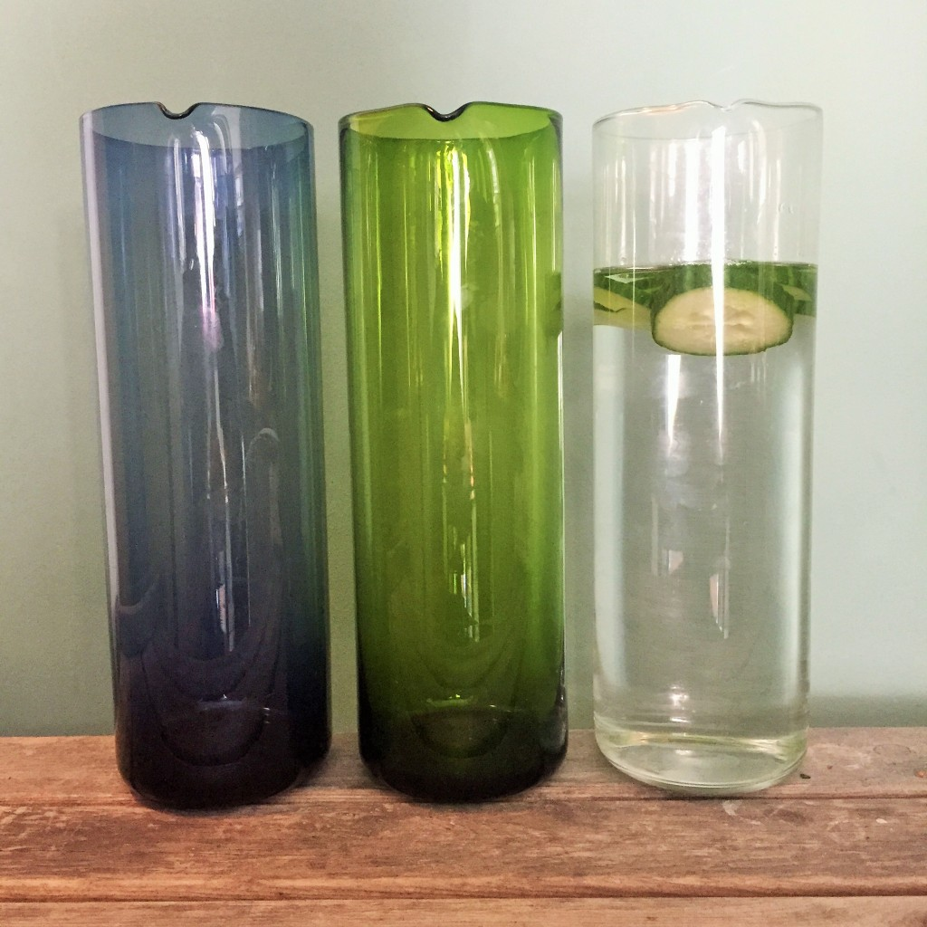Bitossi Bloom Jug's in blue, green and clear