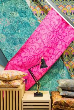 Liberty print fabric and cushions at John Lewis
