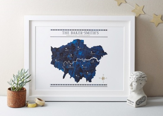 Personalised Constellation print, £28 from Betsy Benn