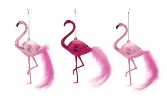 Flamingo decorations, £10