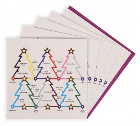 London underground Christmas cards, £3.50